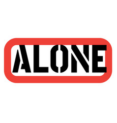 Alone stamp on white vector