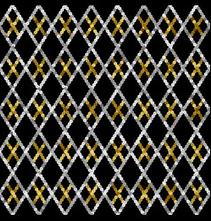 argyle sequins seamless pattern abstract vector image