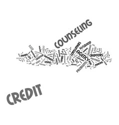 Ask the credit counselor text background word vector