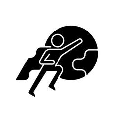 Attitude motivation black glyph icon vector