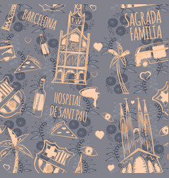 Barcelona pattern seamless design graphic vector