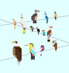 bird icon set vector image