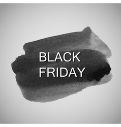 Black Friday label on the watercolor stain vector image