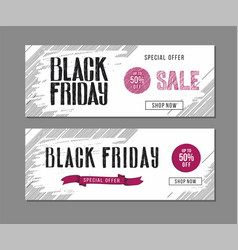 Black friday sale advertising vector