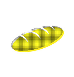 Bread sign yellow icon with square vector