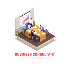 business consultant isometric concept vector image