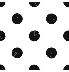 business pie chart pattern seamless black vector image