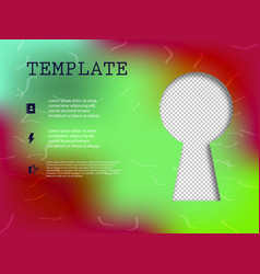 business presentation template from infographic vector image