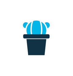cactus pot icon colored symbol premium quality vector image
