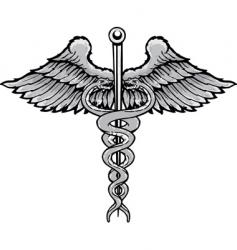 Caduceus symbol vector
