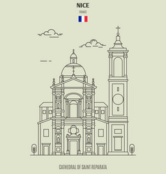 cathedral of saint reparata in nice vector image