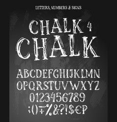 Chalk english alphabet vector