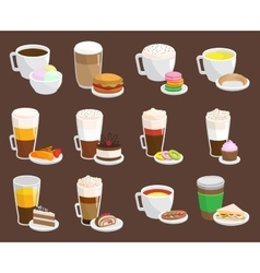 Coffee snack vector