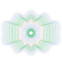 Colored rosette guilloche pattern vector