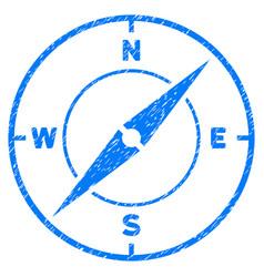 Compass grunge icon vector