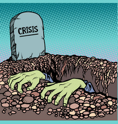 corpse is chosen from a grave crisis vector image