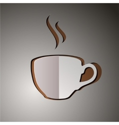 Cup of coffee coffee logo vector