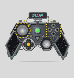 cyberpunk style gamepad videogame joystick vector image