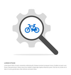 cycle icon search glass with gear symbol icon vector image