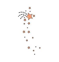 decorative stars icon vector image