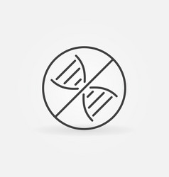 dna prohibition concept icon in thin line vector image