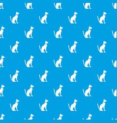 Egyptian cat pattern seamless blue vector