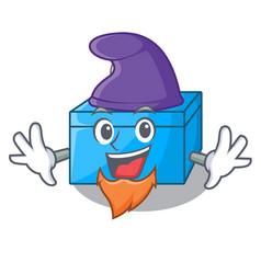 Elf character tissue box on wood floors vector