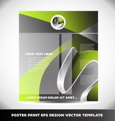 Event poster print design template vector