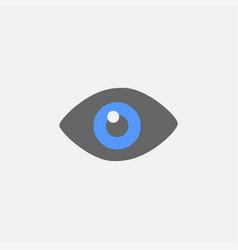 eye flat icon isolated on white background vector image
