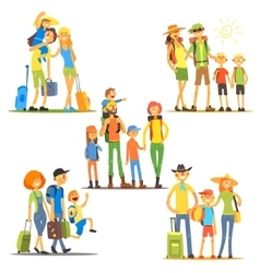 Families on Vacation vector