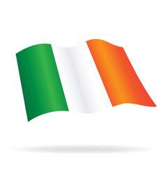 Flying flag ireland vector