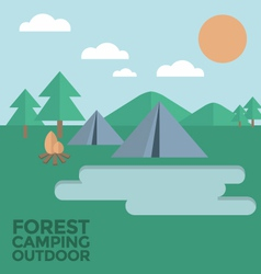 Forest Camping Outdoor vector image
