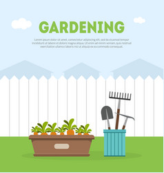 gardening banner template with place for text vector image