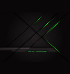 Green light cross line shadow on dark grey vector