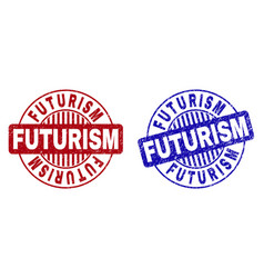 Grunge futurism textured round watermarks vector