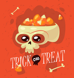 halloween inscription trick or treat is vector image