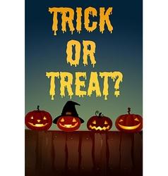 Halloween theme with jack-o-lantern vector image