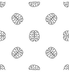 Human brain pattern seamless vector