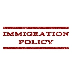 Immigration Policy Watermark Stamp vector