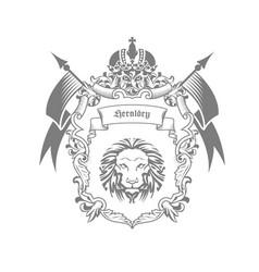 imperial coat arms - heraldic emblem or royal vector image