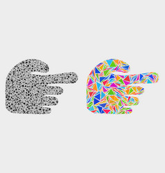 Index finger mosaic icon triangle vector