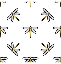 Insects flat icons pattern vector