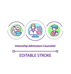 Internship admissions counselor concept icon vector