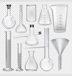 Laboratory glassware instruments equipment vector