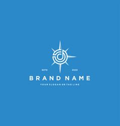 Letter d compass logo design vector
