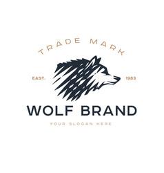 Logotype wolf vector