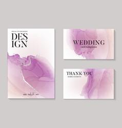 Modern pastel purple violet pastel watercolor vector