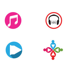 Music note symbols logo and icons template vector