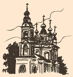 old church sketch vector image