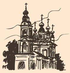 Old church sketch vector